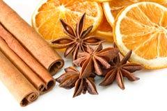 Cinnamon anise oranges Stock Photography