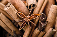 Cinnamon and anise star Stock Photo