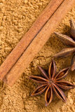Cinnamon and anise stars Stock Photo