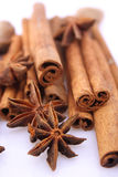 Cinnamon and anise stars Royalty Free Stock Photos