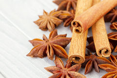 Cinnamon and anise stars Royalty Free Stock Photography