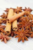Cinnamon and anise Stock Image