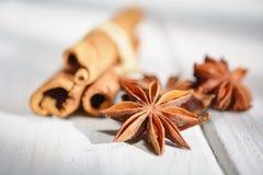Cinnamon and anise Stock Image
