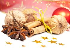 Cinnamon, Anise and  Walnuts Royalty Free Stock Photography