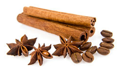 Cinnamon and anise Royalty Free Stock Photos