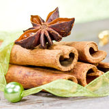 Cinnamon and anise Royalty Free Stock Images
