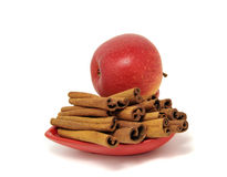 Cinnamon and apple Royalty Free Stock Photo