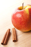 Cinnamon and apple Royalty Free Stock Photos