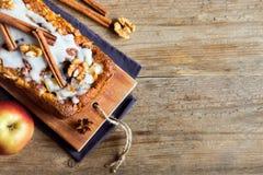 Cinnamon apple cake Stock Photo