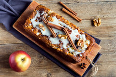 Cinnamon apple cake Royalty Free Stock Images