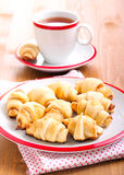 Cinnamon  and apple filling crescents Royalty Free Stock Photos