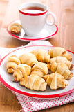 Cinnamon  and apple filling crescents Stock Images