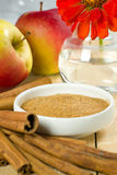 Cinnamon with apples Stock Photography
