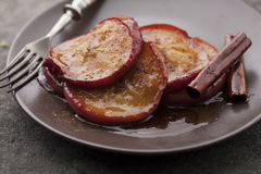 Cinnamon  apples Stock Images