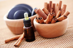 Cinnamon aromatherapy Stock Images