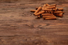 Cinnamon. Aromatic cinnamon filtered its smell like a king in every kitchen Stock Images