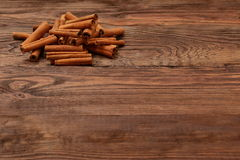Cinnamon. Aromatic cinnamon filtered its smell like a king in every kitchen Stock Photography
