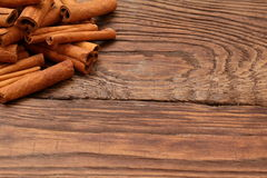 Cinnamon. Aromatic cinnamon filtered its smell like a king in every kitchen Stock Image