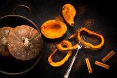 Cinnamon Baked Pumpkin Royalty Free Stock Images