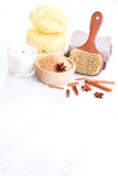 Cinnamon bath salt Royalty Free Stock Image