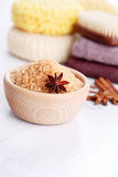 Cinnamon bath salt Royalty Free Stock Photography