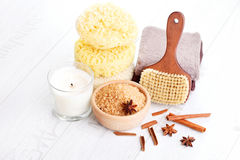 Cinnamon bath salt Royalty Free Stock Photo