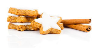 Cinnamon biscuit Stock Images