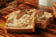 Cinnamon Bread and Milk Stock Images