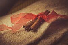 Cinnamon. Brown spices, cinnamon sticks, food Stock Photo