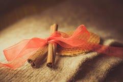 Cinnamon. Brown spices, cinnamon sticks, food Royalty Free Stock Photo