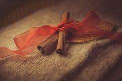 Cinnamon. Brown spices, cinnamon sticks, food Royalty Free Stock Photos