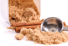 Cinnamon and Brown Sugar. Baking Spices royalty free stock photo