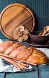 Cinnamon bun browned crust, sweet pastries Stock Photography