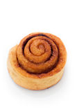 Cinnamon bun close-up Royalty Free Stock Images