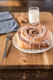 Cinnamon Bun After A Longs Days Work royalty free stock images