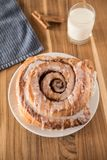 Cinnamon Bun After A Longs Days Work royalty free stock photos
