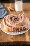 Cinnamon Bun After A Longs Days Work stock image