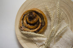 Cinnamon bun with spica Royalty Free Stock Photography