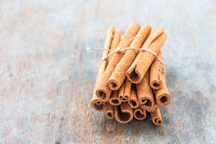 Cinnamon. A bunch of aromatic cinnamon / cassia Royalty Free Stock Image