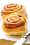 Cinnamon buns Stock Photos
