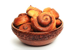 Cinnamon buns in the bowl Stock Image