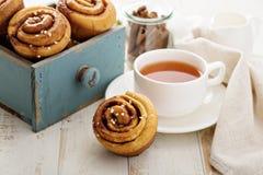 Cinnamon buns for breakfast Stock Image