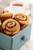 Cinnamon buns for breakfast Royalty Free Stock Photo