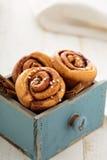 Cinnamon buns for breakfast Royalty Free Stock Image