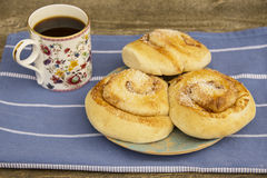 Cinnamon buns Stock Images