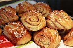 Cinnamon buns home baked delicious Stock Photography