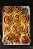 Cinnamon buns top view Royalty Free Stock Image