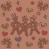 Cinnamon cakes Stock Photography