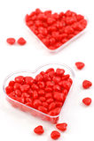 Cinnamon candy hearts Royalty Free Stock Image