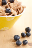 Cinnamon cereals with blueberries Stock Photo